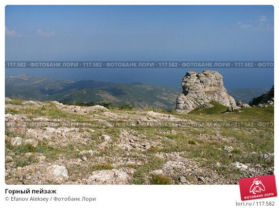 Горный пейзаж, фото № 117582, снято 24 июля 2006 г. (c) Efanov Aleksey / Фотобанк Лори