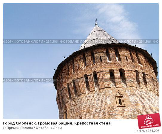 Купить «Город Смоленск. Громовая башня. Крепостная стена», фото № 254206, снято 1 апреля 2007 г. (c) Примак Полина / Фотобанк Лори