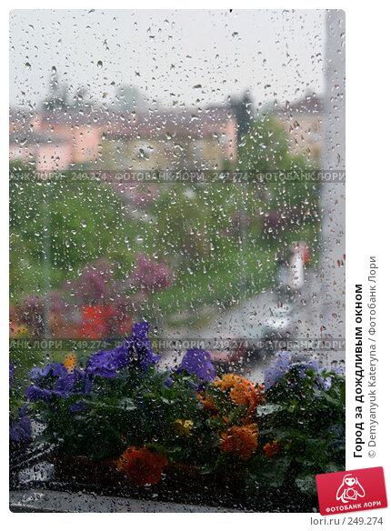 Купить «Город за дождливым окном», фото № 249274, снято 12 апреля 2008 г. (c) Demyanyuk Kateryna / Фотобанк Лори