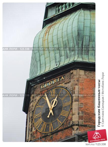 Городские башенные часы, фото № 123338, снято 2 октября 2007 г. (c) Светлана Силецкая / Фотобанк Лори