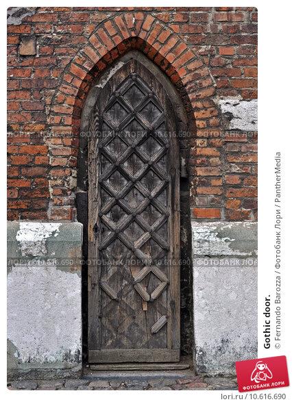 Gothic door. Стоковое фото, фотограф Fernando Barozza / PantherMedia / Фотобанк Лори