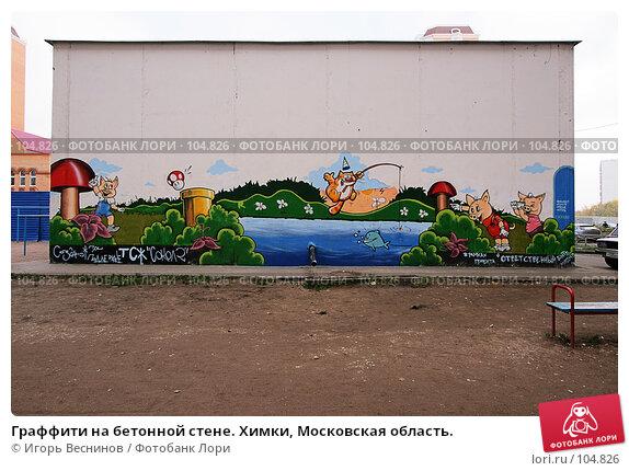 Граффити на бетонной стене. Химки, Московская область., фото № 104826, снято 23 октября 2016 г. (c) Игорь Веснинов / Фотобанк Лори
