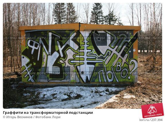 Граффити на трансформаторной подстанции, фото № 237394, снято 29 марта 2008 г. (c) Игорь Веснинов / Фотобанк Лори