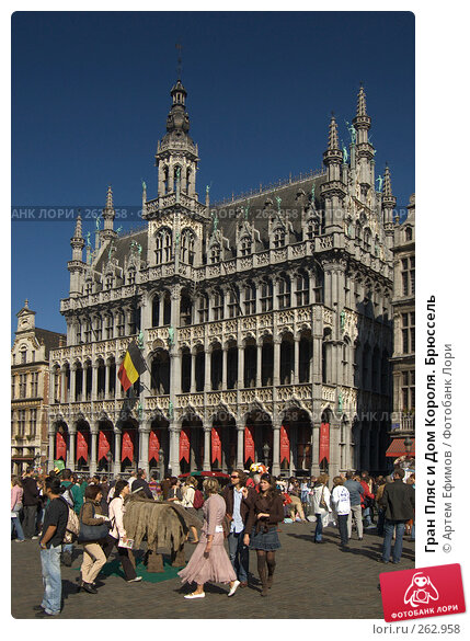 Гран Пляс и Дом Короля. Брюссель, фото № 262958, снято 6 октября 2007 г. (c) Артем Ефимов / Фотобанк Лори