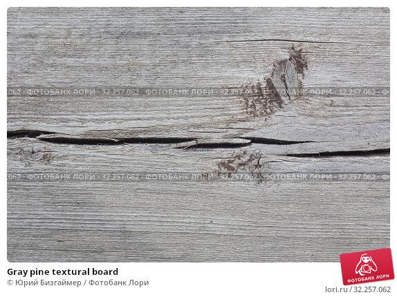 Купить «Gray pine textural board», фото № 32257062, снято 3 августа 2016 г. (c) Юрий Бизгаймер / Фотобанк Лори
