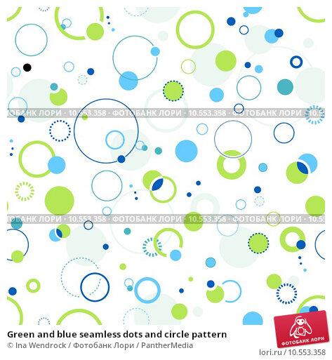 Купить «Green and blue seamless dots and circle pattern», фото № 10553358, снято 21 августа 2019 г. (c) PantherMedia / Фотобанк Лори