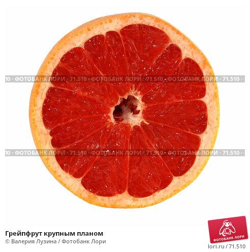Грейпфрут крупным планом, фото № 71510, снято 5 июля 2007 г. (c) Валерия Потапова / Фотобанк Лори