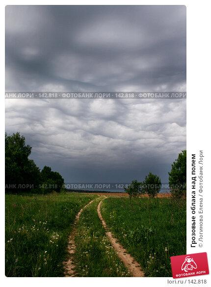 Грозовые облака над полем, фото № 142818, снято 27 мая 2007 г. (c) Логинова Елена / Фотобанк Лори