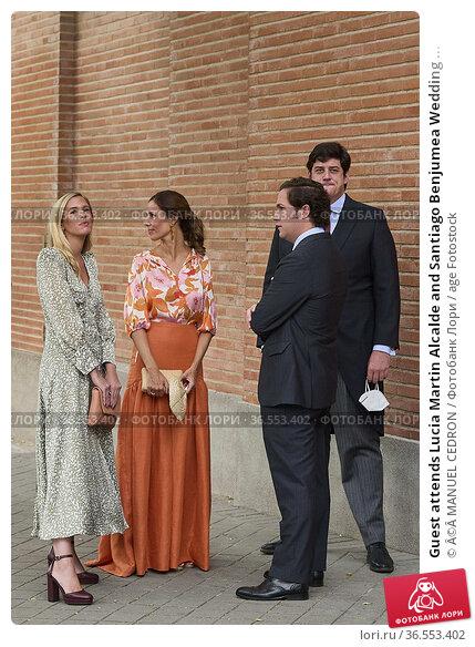 Guest attends Lucia Martin Alcalde and Santiago Benjumea Wedding ... Редакционное фото, фотограф ©MANUEL CEDRON / age Fotostock / Фотобанк Лори