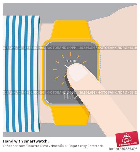 Hand with smartwatch. Стоковое фото, фотограф Zoonar.com/Roberto Rizzo / easy Fotostock / Фотобанк Лори