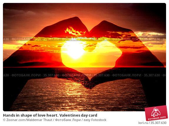 Hands in shape of love heart. Valentines day card. Стоковое фото, фотограф Zoonar.com/Waldemar Thaut / easy Fotostock / Фотобанк Лори