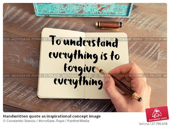 Купить «Handwritten quote as inspirational concept image», фото № 27795618, снято 22 октября 2018 г. (c) PantherMedia / Фотобанк Лори