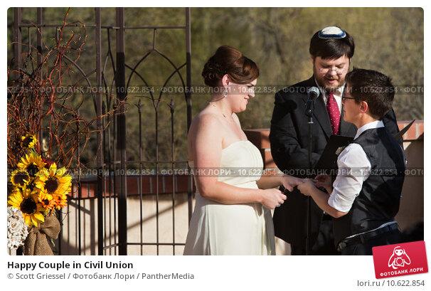 Happy Couple in Civil Union. Стоковое фото, фотограф Scott Griessel / PantherMedia / Фотобанк Лори