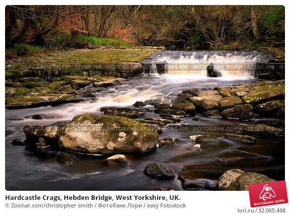 Hardcastle Crags, Hebden Bridge, West Yorkshire, UK. Стоковое фото, фотограф Zoonar.com/christopher smith / easy Fotostock / Фотобанк Лори