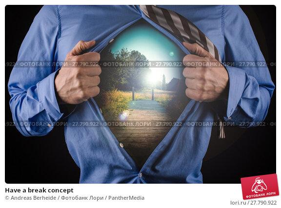 Купить «Have a break concept», фото № 27790922, снято 22 февраля 2018 г. (c) PantherMedia / Фотобанк Лори