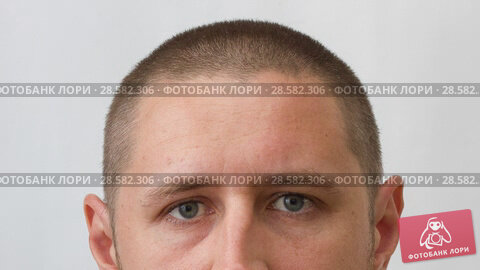 Купить «Head of man - growing process of hair of young caucasian man», видеоролик № 28582306, снято 21 июня 2018 г. (c) Константин Шишкин / Фотобанк Лори