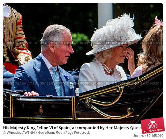 His Majesty King Felipe VI of Spain, accompanied by Her Majesty Queen... (2017 год). Редакционное фото, фотограф Wheatley / WENN / age Fotostock / Фотобанк Лори