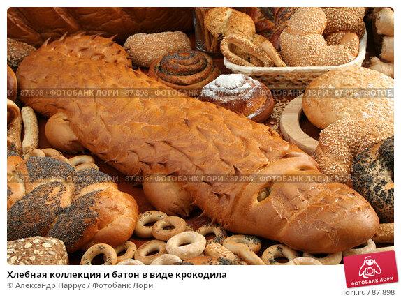 Хлебная коллекция и батон в виде крокодила, фото № 87898, снято 22 сентября 2007 г. (c) Александр Паррус / Фотобанк Лори