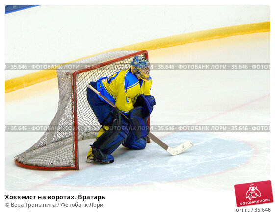 Купить «Хоккеист на воротах. Вратарь», фото № 35646, снято 20 апреля 2007 г. (c) Вера Тропынина / Фотобанк Лори