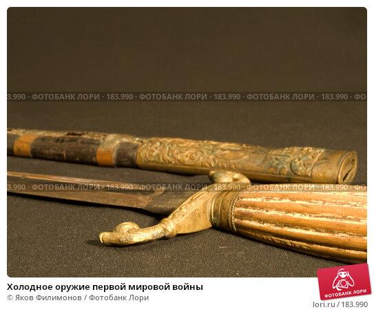 Холодное оружие первой мировой войны, фото № 183990, снято 6 января 2008 г. (c) Яков Филимонов / Фотобанк Лори