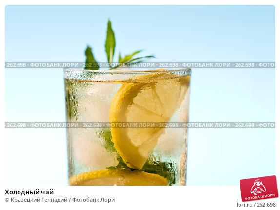 Купить «Холодный чай», фото № 262698, снято 29 июля 2005 г. (c) Кравецкий Геннадий / Фотобанк Лори