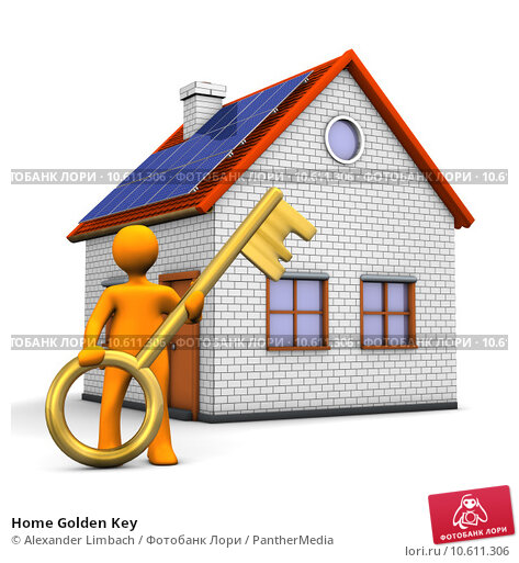 Home Golden Key. Стоковое фото, фотограф Alexander Limbach / PantherMedia / Фотобанк Лори