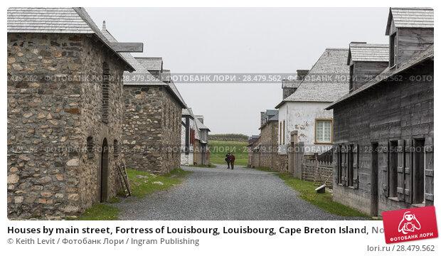 Купить «Houses by main street, Fortress of Louisbourg, Louisbourg, Cape Breton Island, Nova Scotia, Canada», фото № 28479562, снято 13 июня 2016 г. (c) Ingram Publishing / Фотобанк Лори
