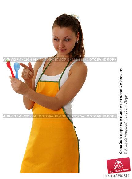 Хозяйка пересчитывает столовые ложки, фото № 296814, снято 7 мая 2008 г. (c) Андрей Аркуша / Фотобанк Лори