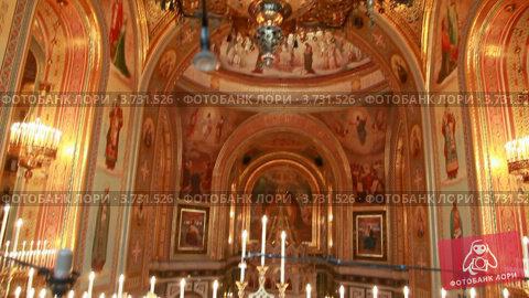 Купить «Храм Христа Спасителя», видеоролик № 3731526, снято 3 апреля 2006 г. (c) Losevsky Pavel / Фотобанк Лори