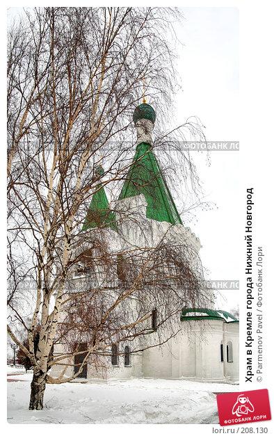 Храм в Кремле города Нижний Новгород, фото № 208130, снято 19 февраля 2008 г. (c) Parmenov Pavel / Фотобанк Лори