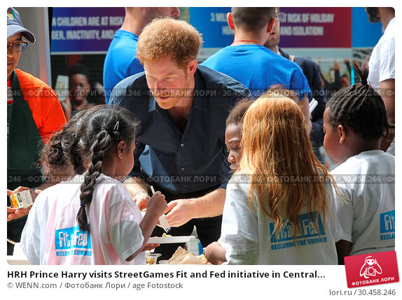HRH Prince Harry visits StreetGames Fit and Fed initiative in Central... (2017 год). Редакционное фото, фотограф WENN.com / age Fotostock / Фотобанк Лори