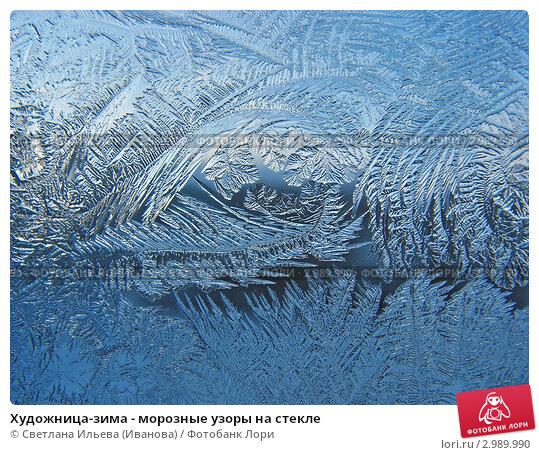 Купить «Художница-зима - морозные узоры на стекле», фото № 2989990, снято 25 ноября 2011 г. (c) Светлана Ильева (Иванова) / Фотобанк Лори
