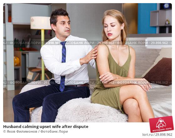 Купить «Husband calming upset wife after dispute», фото № 29898962, снято 24 сентября 2018 г. (c) Яков Филимонов / Фотобанк Лори