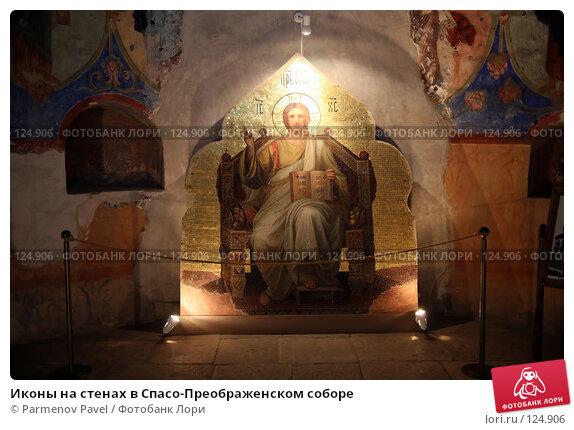 Иконы на стенах в Спасо-Преображенском соборе, фото № 124906, снято 18 ноября 2007 г. (c) Parmenov Pavel / Фотобанк Лори