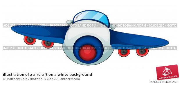 illustration of a aircraft on a white background. Стоковая иллюстрация, иллюстратор Matthew Cole / PantherMedia / Фотобанк Лори
