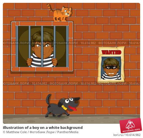 Illustration of a boy on a white background. Стоковая иллюстрация, иллюстратор Matthew Cole / PantherMedia / Фотобанк Лори
