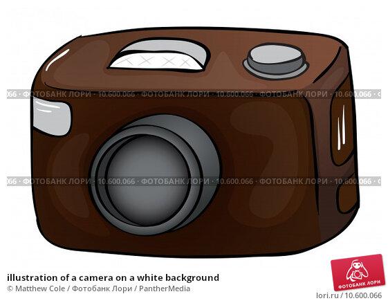 illustration of a camera on a white background. Стоковая иллюстрация, иллюстратор Matthew Cole / PantherMedia / Фотобанк Лори