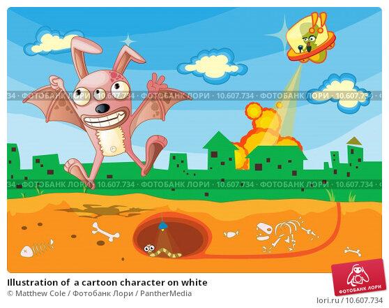 Illustration of  a cartoon character on white. Стоковая иллюстрация, иллюстратор Matthew Cole / PantherMedia / Фотобанк Лори