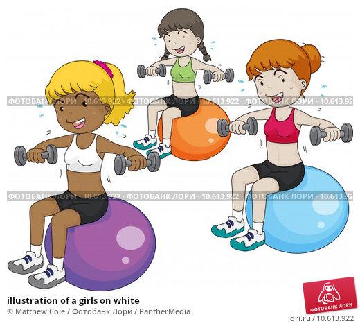 illustration of a girls on white. Стоковая иллюстрация, иллюстратор Matthew Cole / PantherMedia / Фотобанк Лори