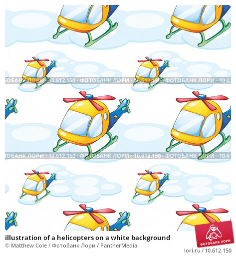 illustration of a helicopters on a white background. Стоковая иллюстрация, иллюстратор Matthew Cole / PantherMedia / Фотобанк Лори