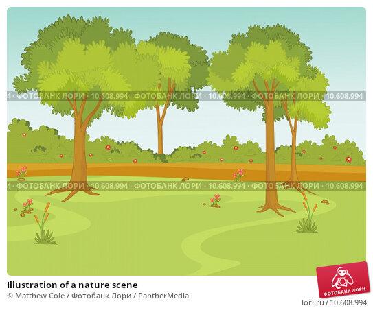 Illustration of a nature scene. Стоковая иллюстрация, иллюстратор Matthew Cole / PantherMedia / Фотобанк Лори