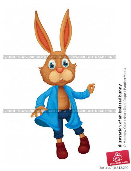 Illustration of an isolated bunny. Стоковая иллюстрация, иллюстратор Matthew Cole / PantherMedia / Фотобанк Лори