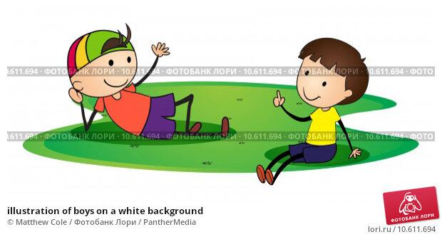 illustration of boys on a white background. Стоковая иллюстрация, иллюстратор Matthew Cole / PantherMedia / Фотобанк Лори