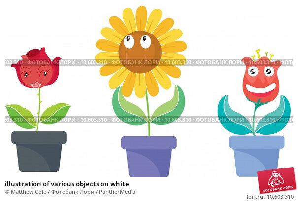 illustration of various objects on white. Стоковая иллюстрация, иллюстратор Matthew Cole / PantherMedia / Фотобанк Лори