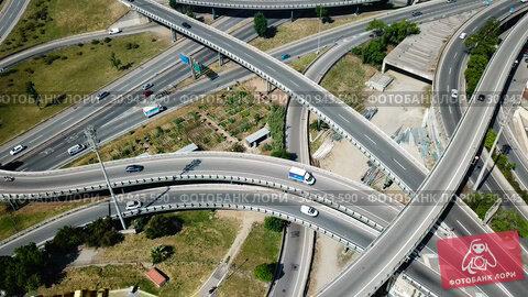 Купить «Image of car interchange of Barcelona in the Spain.», видеоролик № 30943590, снято 12 июня 2018 г. (c) Яков Филимонов / Фотобанк Лори