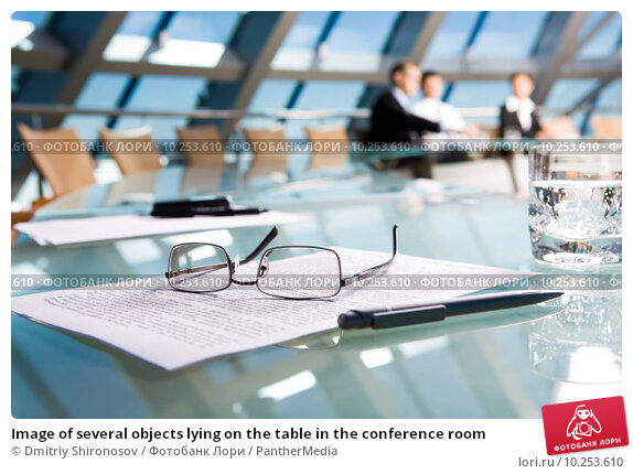 Купить «Image of several objects lying on the table in the conference room », фото № 10253610, снято 20 апреля 2019 г. (c) PantherMedia / Фотобанк Лори