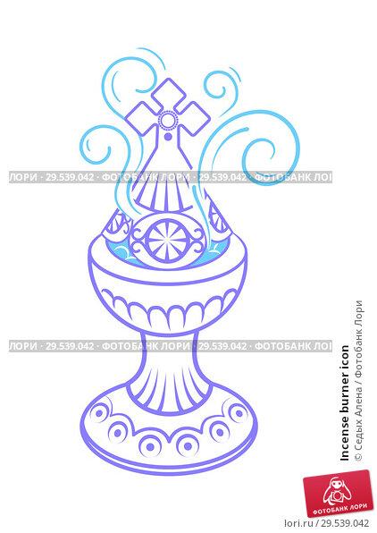 Купить «Incense burner icon», иллюстрация № 29539042 (c) Седых Алена / Фотобанк Лори