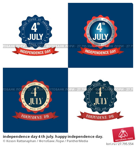 Купить «independence day 4 th july. happy independence day.», иллюстрация № 27795554 (c) PantherMedia / Фотобанк Лори