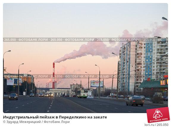 Индустриальный пейзаж в Переделкино на закате, фото № 265050, снято 4 января 2008 г. (c) Эдуард Межерицкий / Фотобанк Лори