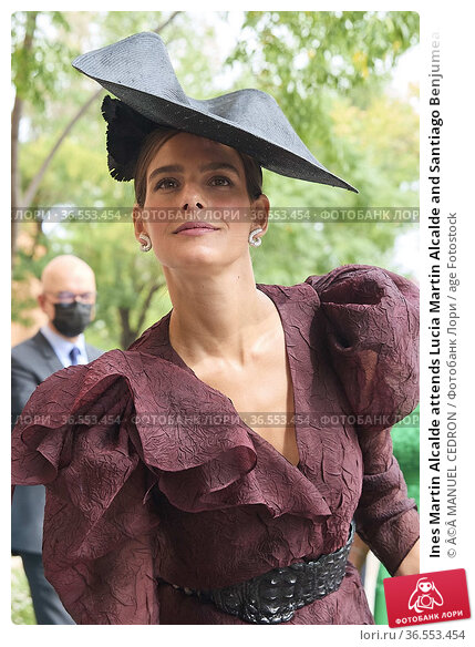 Ines Martin Alcalde attends Lucia Martin Alcalde and Santiago Benjumea... Редакционное фото, фотограф ©MANUEL CEDRON / age Fotostock / Фотобанк Лори